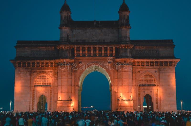 Mumbai, de poort van India royalty-vrije stock fotografie
