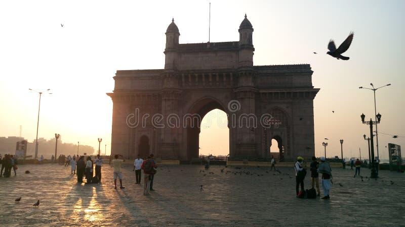 Mumbai, de poort van India stock afbeeldingen