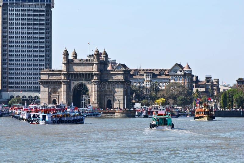 Mumbai, Gateway van India royalty-vrije stock afbeeldingen