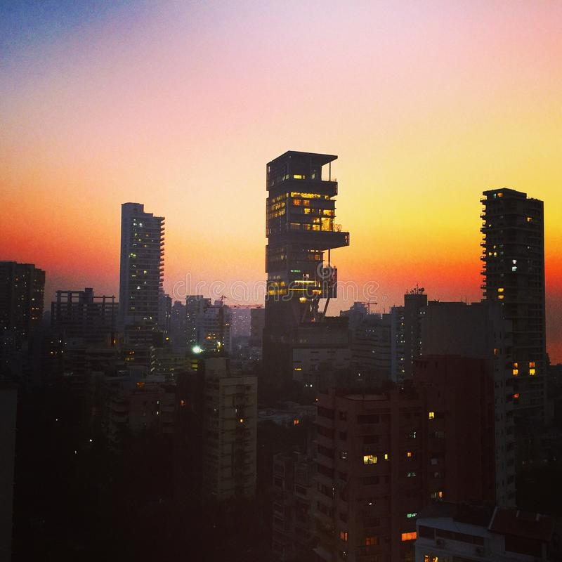 Mumbai horisont royaltyfri fotografi