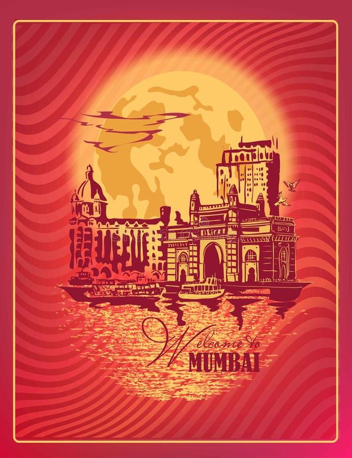 Mumbai, India brama ilustracji