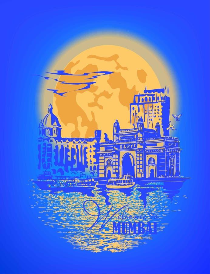 Mumbai, India Gate royalty free illustration