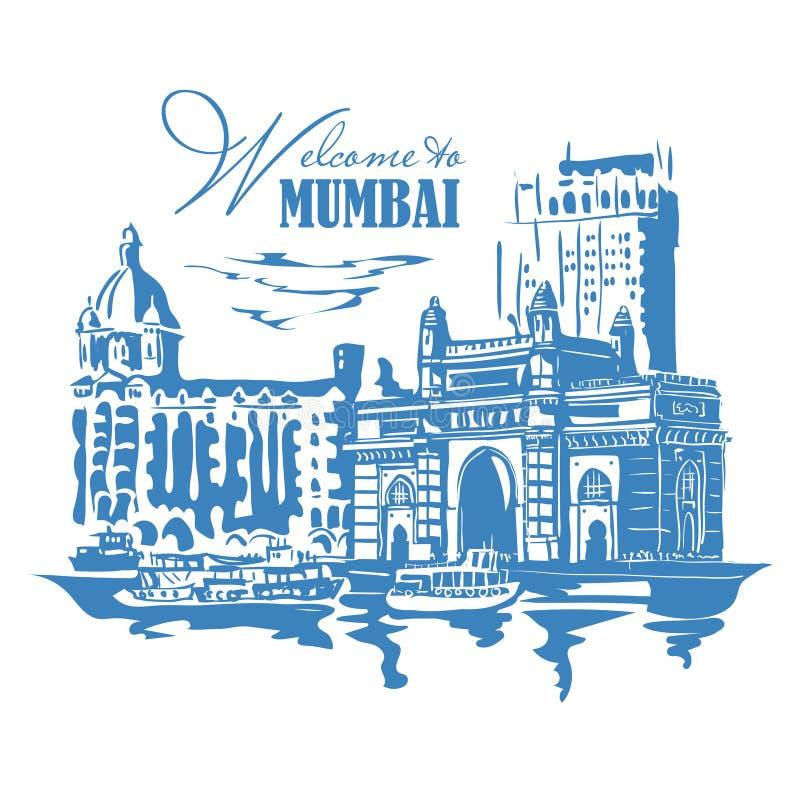 Mumbai, India Gate vector illustration