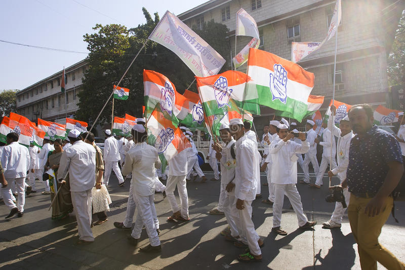 MUMBAI, INDIA - may 2015: Rally in Support of the Indian Nationa royalty free stock image