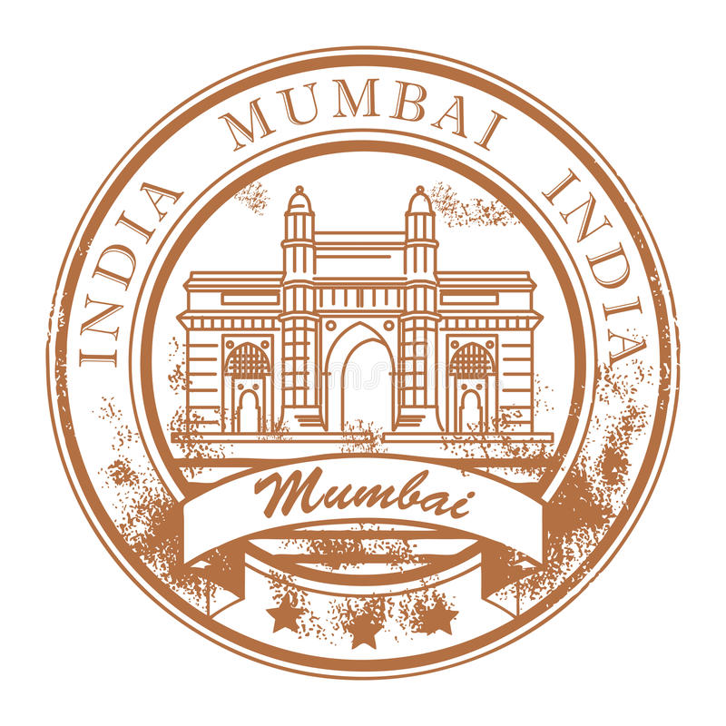 Mumbai, India stamp vector illustration