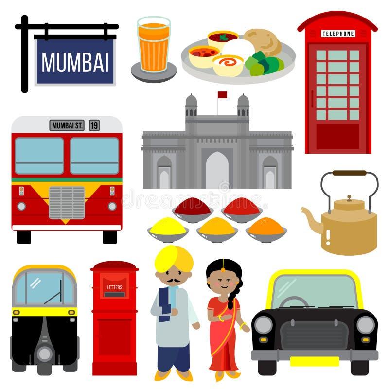 MUMBAI INDIEN stock abbildung