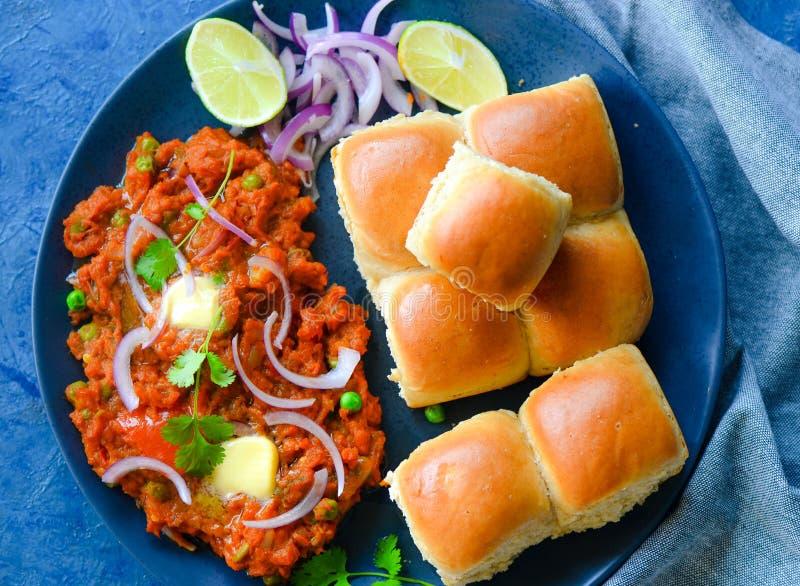 Mumbai jedzenia pav uliczny bhaji zdjęcie royalty free