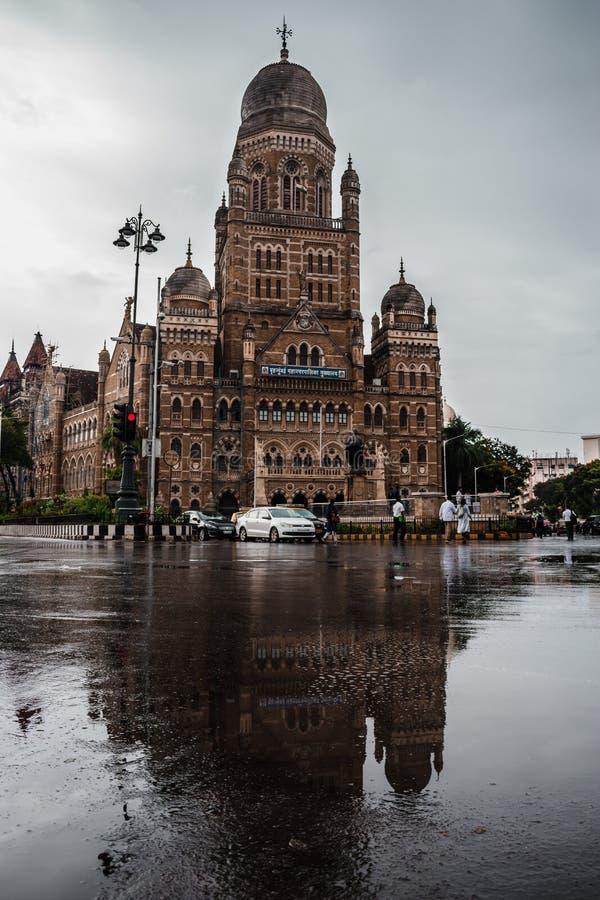 Mumbai Mahanagar palik w monsunu czasie zdjęcie stock