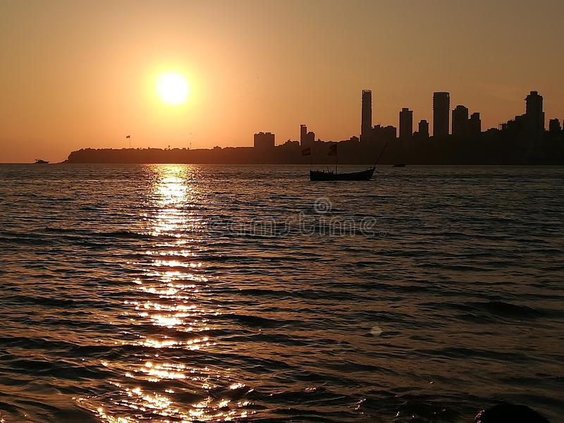 Sunset, city stock images