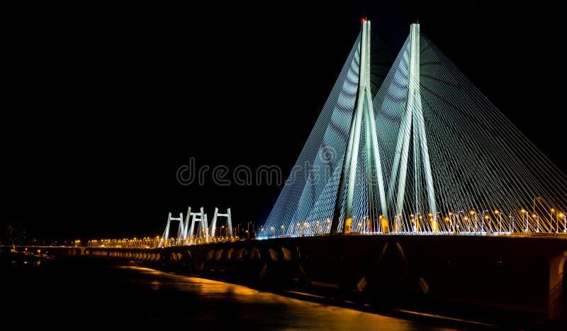 Mumbai overzeese verbinding bij nacht royalty-vrije stock fotografie