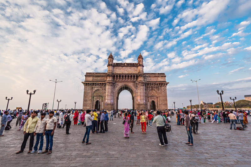 Mumbai, porte de l'Inde image libre de droits