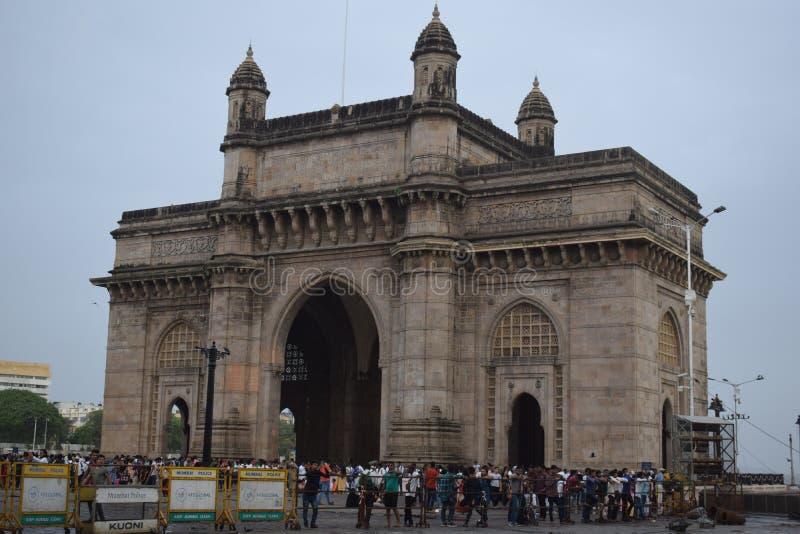 Mumbai, puerta de la India foto de archivo