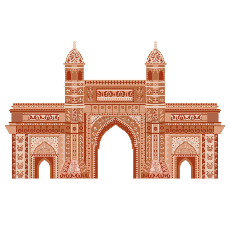 Mumbai, puerta de la India libre illustration