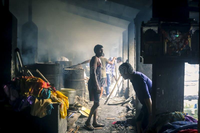Mumbai`s dhobighat in Mahalaxmi, India stock images
