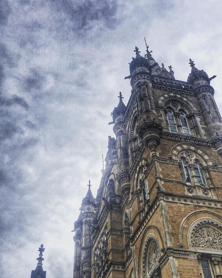 Mumbai`s Heritage Architectural building captured stock photography