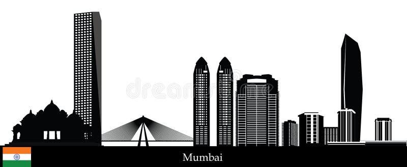 Mumbai skyline stock illustration