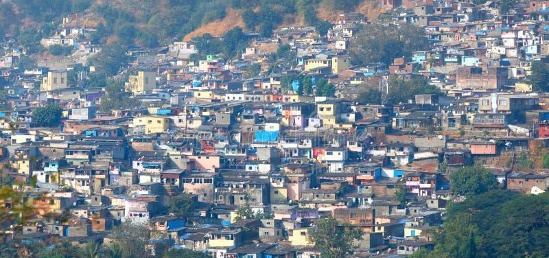 Mumbai slumkvarter arkivfoto