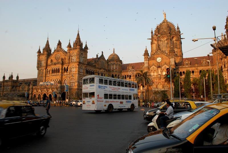 Mumbai station royaltyfria bilder