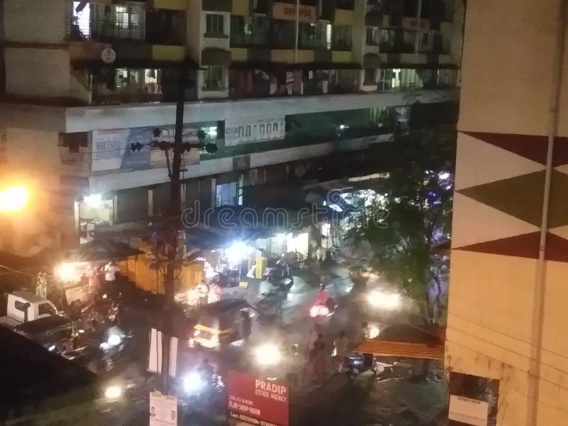 Mumbai suburbansstad av gatan arkivfoton