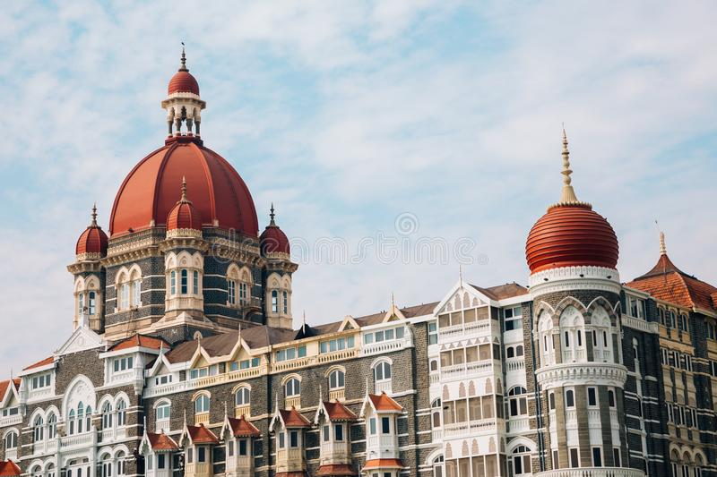 Mumbai Taj Mahal Palace in India royalty-vrije stock afbeelding