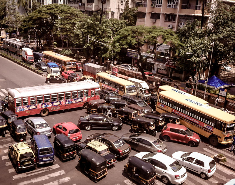 Mumbai Traffic Jam. A Traffic Jam in Mumbai stock photos