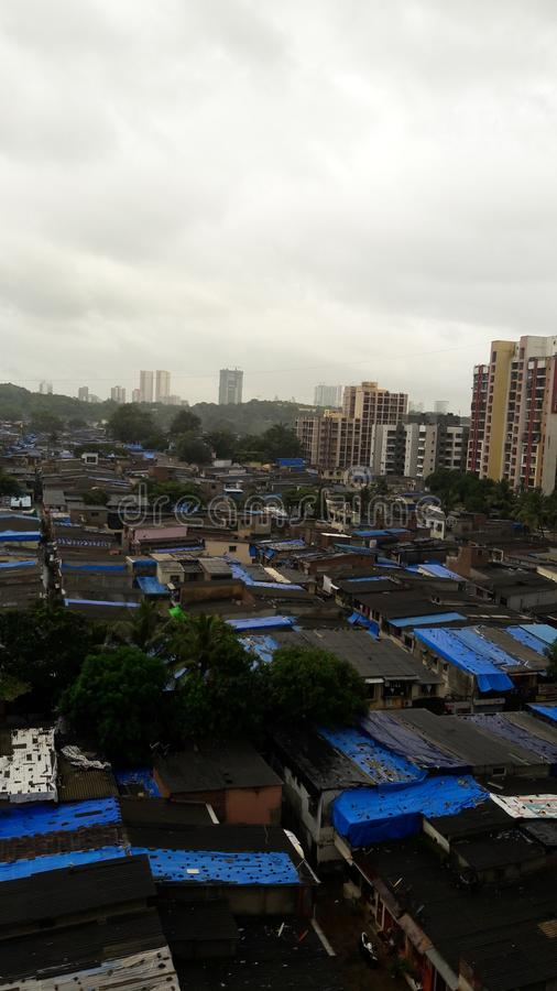 Mumbaikrottenwijk India stock foto's