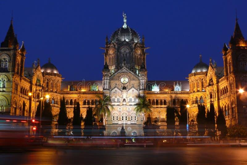 mumbaiterminal victoria för cst india arkivbilder