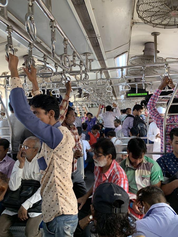 Mumbaitrein, vervoersreddingslijn, Lokaal vervoer royalty-vrije stock afbeelding