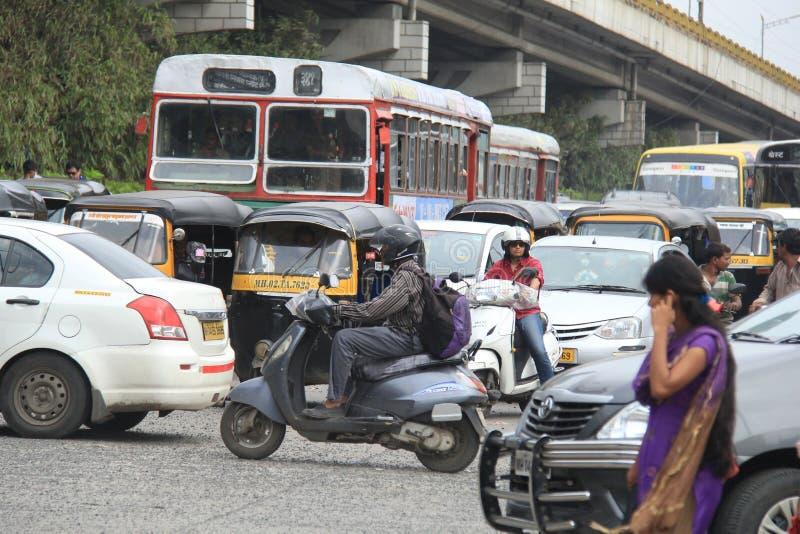 Mumbaiverkeer royalty-vrije stock afbeelding