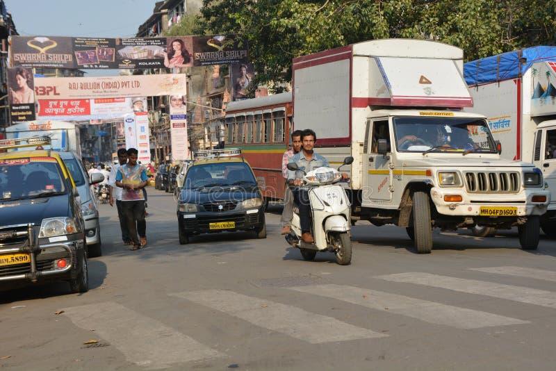 Mumbaiverkeer royalty-vrije stock afbeeldingen