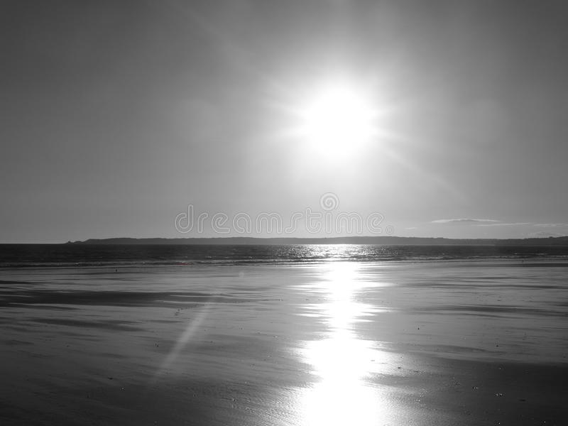 Mumbles al tramonto fotografia stock