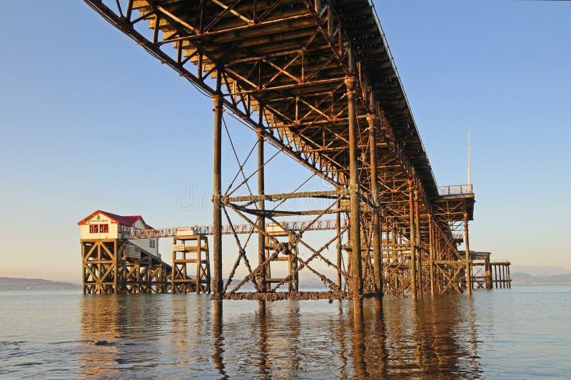Mumbles-Pier in Swansea-Bucht stockbilder