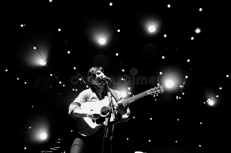 Mumford and Sons (band) performs at Sant Jordi Club royalty free stock photography