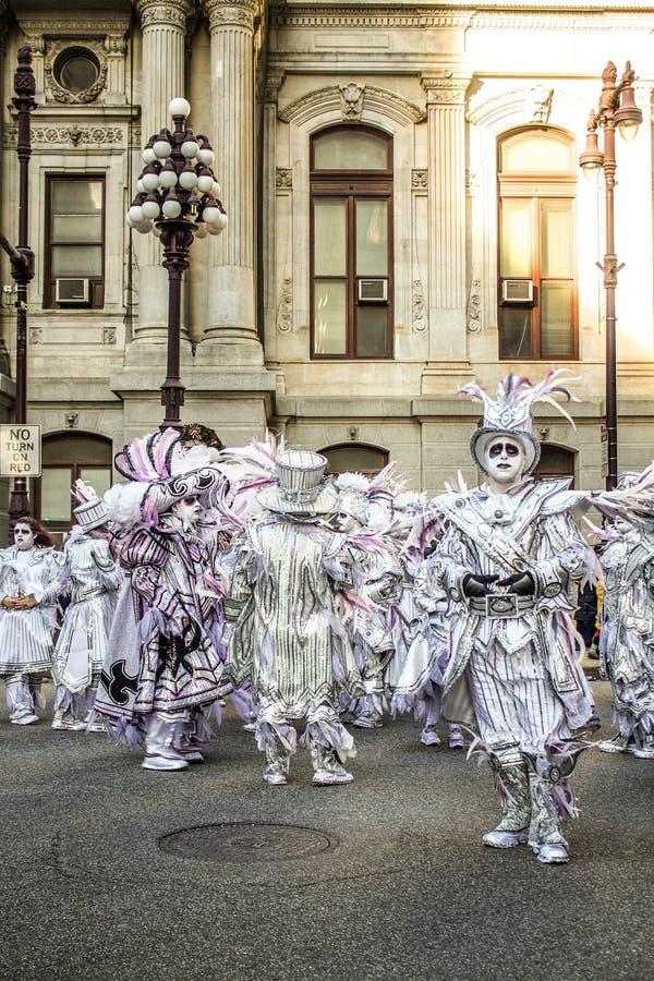 Mummers paraderen 2015 stock afbeelding