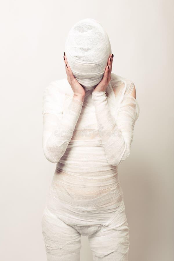 Mummia bendata fotografia stock