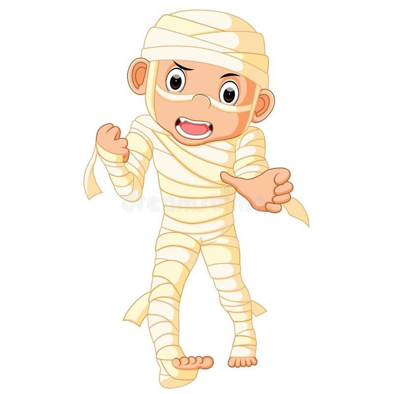 Mummia dell'Egiziano del fumetto illustrazione vettoriale