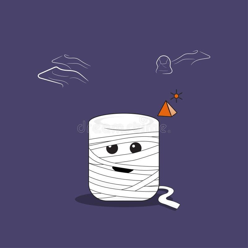 Mummia della caramella gommosa e molle illustrazione di stock