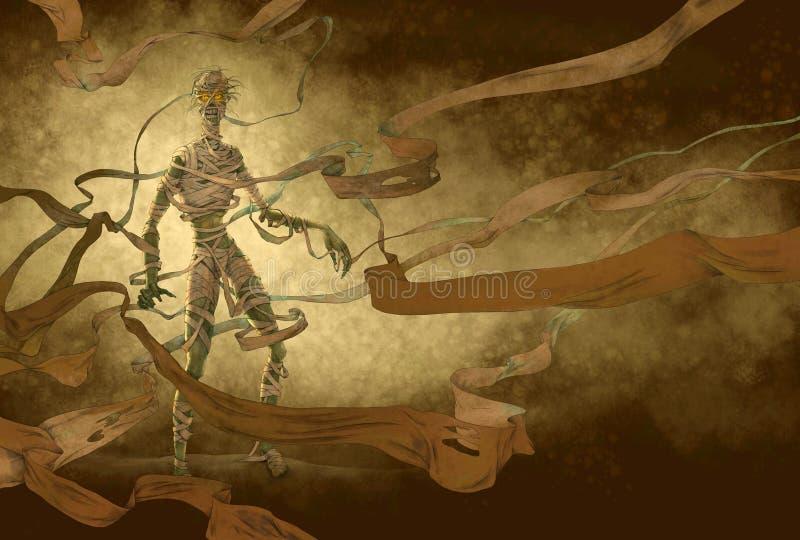 Mummia egiziana illustrazione di stock