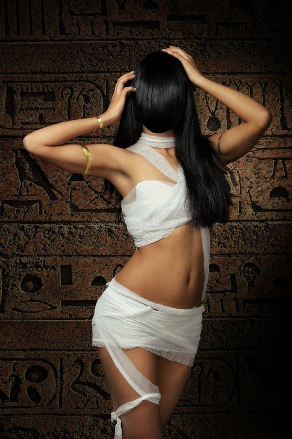 Mummia egiziana sexy immagine stock