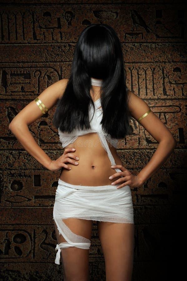 Mummia egiziana sexy fotografie stock