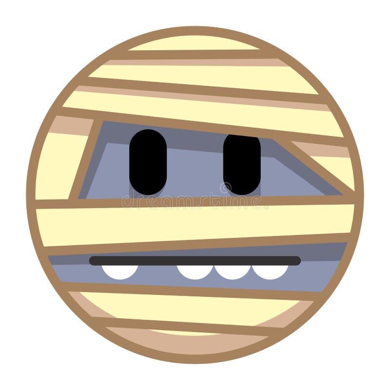 Mummia Emoji del fumetto isolato su fondo bianco royalty illustrazione gratis