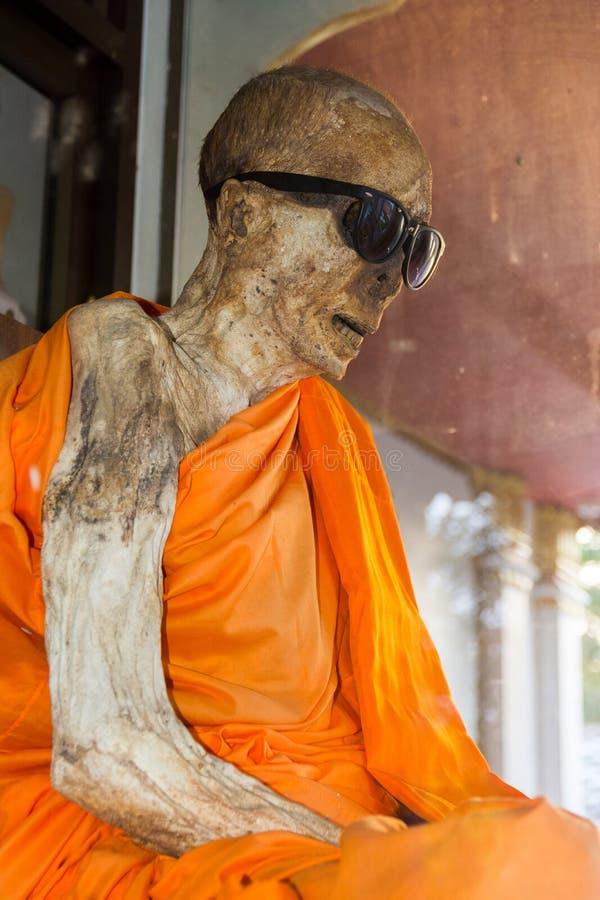 Mummified monk stock photos