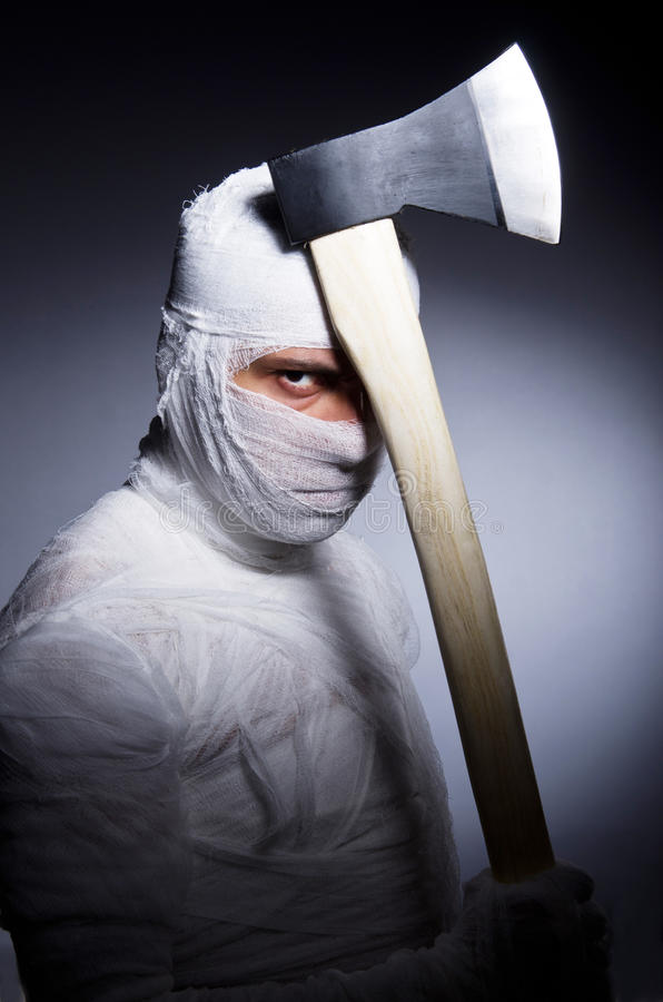Download Mummy with axe stock image. Image of evil, body, isolated - 32480653