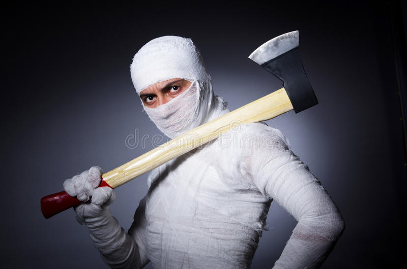 Download Mummy with axe i stock photo. Image of costume, egypt - 31752966