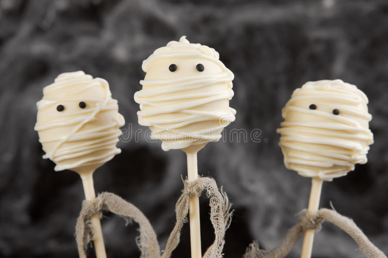 Mummy cake pops royalty free stock images