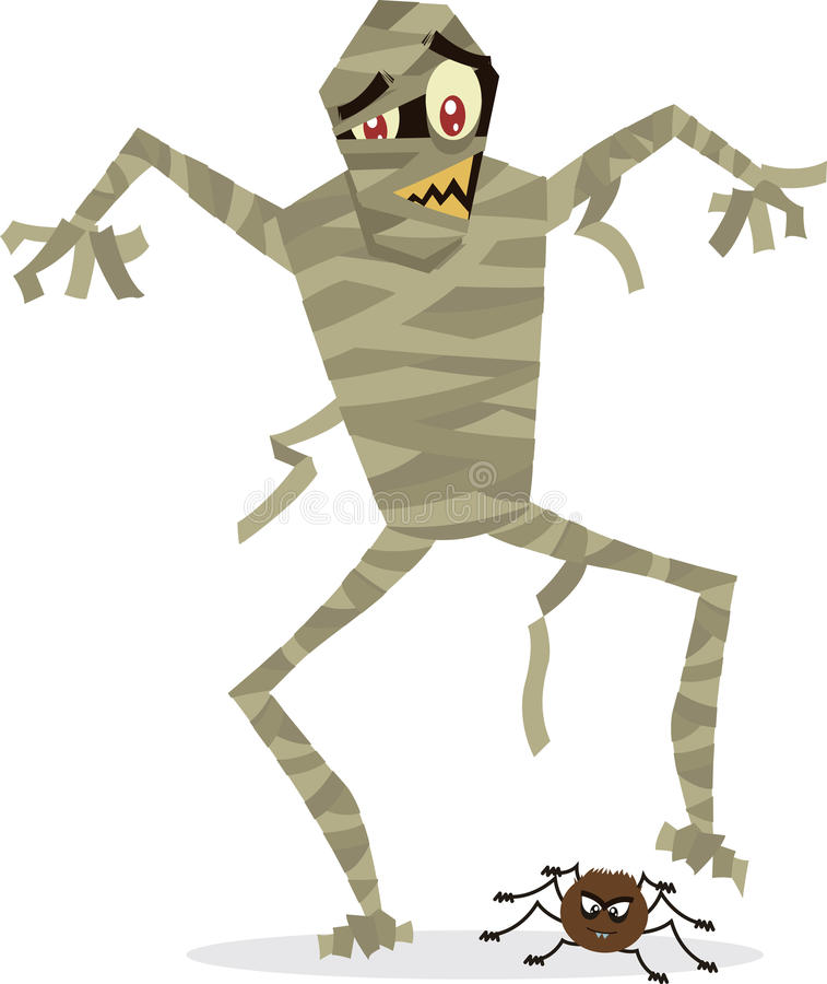 Mummy halloween character illustration royalty free stock images
