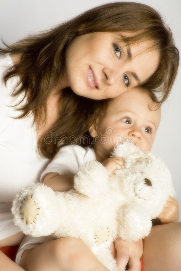 Mummy and son royalty free stock photos
