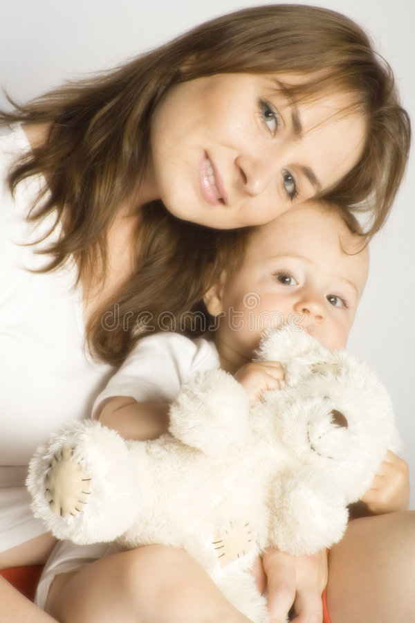 Mummy and son royalty free stock photo
