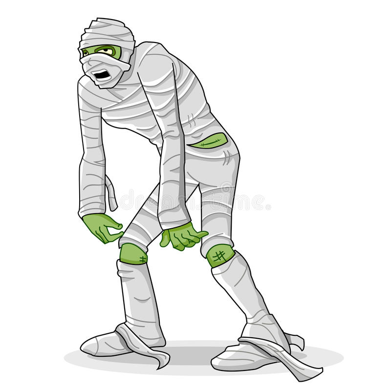 Download Mummy wrapped in bandage stock illustration. Image of horror - 20594411