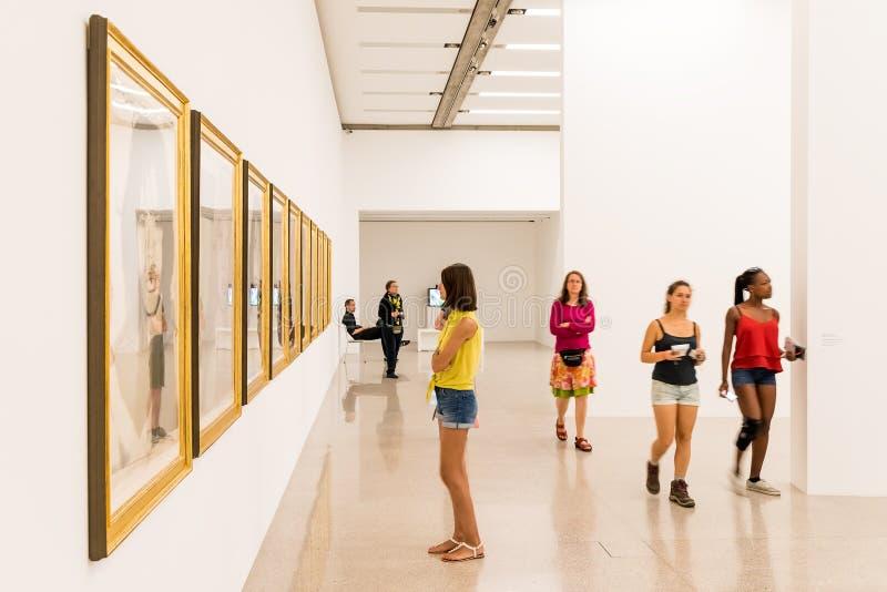 Mumok (музей Moderner Kunst) или музей современного искусства в вене стоковые изображения rf